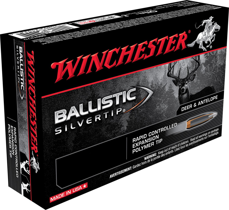 Winchester Ammo SBST2506 Supreme 25-06 Remington 115 GR Ballistic Silvertip 20 Bx/ 10 Cs