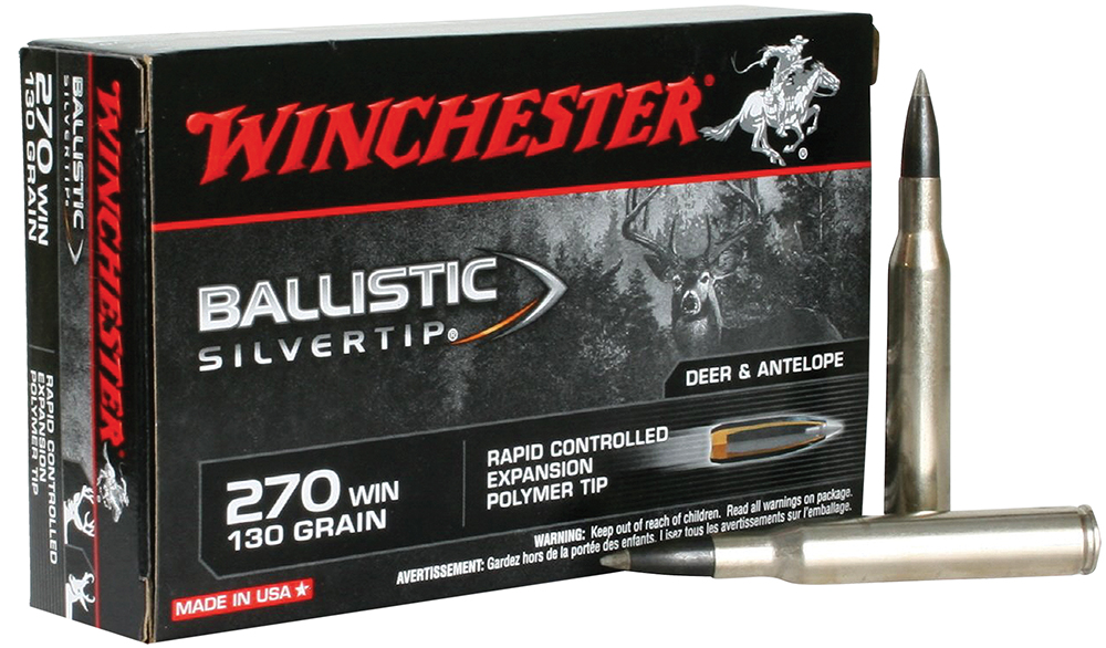 Winchester Ammo SBST270 Supreme 270 Winchester 130 GR Ballistic Silvertip 20 Bx/10 Cs