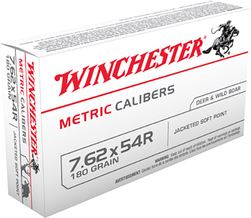 Winchester Ammo MC54RSP Metric 7.62X54mm Russian 180 GR Soft Point 20 Bx/ 20 Cs