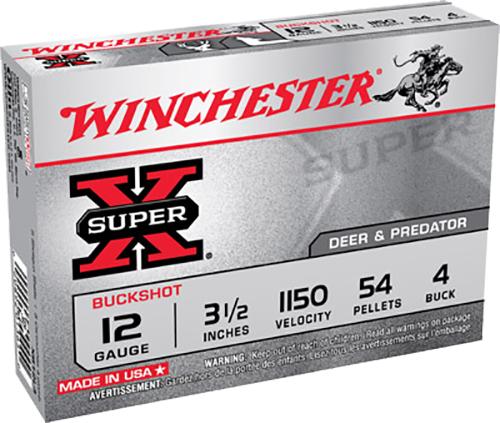 Winchester Ammo XB12L4 Super-X Buckshot 12 Gauge 3.5
