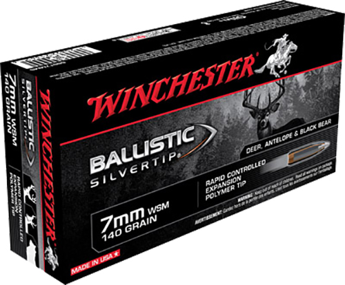 Winchester Ammo SBST7MMS Supreme 7mm Winchester Short Magnum 140 GR Ballistic Silvertip 20 Bx/10 Cs