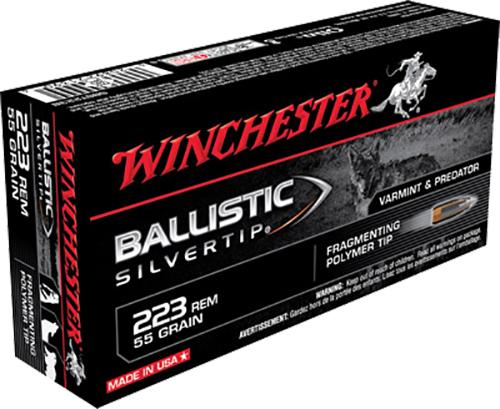 Winchester Ammo SBST223B Supreme 223 Remington/5.56 NATO 55 GR Ballistic Silvertip 20 Bx/ 10 Cs