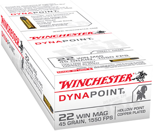 Winchester Ammo USA22M Best Value 22 Winchester Magnum Rimfire (WMR) 45 GR Dynapoint 50 Bx/ 40 Cs