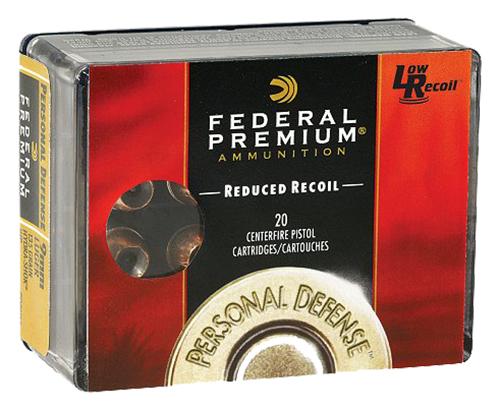 Federal PD9HS5H Premium Personal Defense Low Recoil  9mm Luger 135 GR Hydra-Shok JHP 20 Bx/ 10 Cs