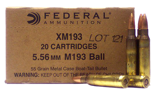 Federal XM193 American Eagle 223 Remington/5.56 NATO 55 GR Metal Case Boat Tail 20 Bx/ 25 Cs
