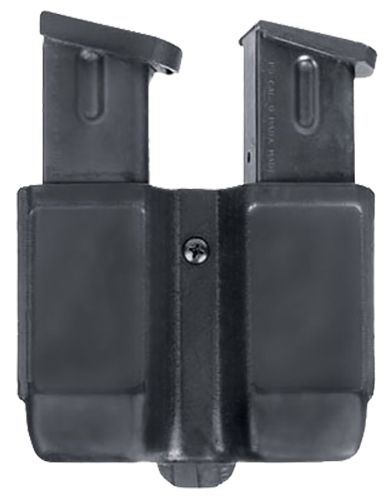 Blackhawk 410510PBK Double Magazine Case 9mm/40 Cal/45 Cal/357Sig Single Stack Black Synthetic