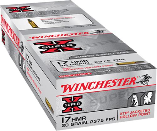 Winchester Ammo X17HMR1 Super-X 17 Hornady Magnum Rimfire (HMR) 20 GR Jacketed Hollow Point 50 Bx/ 40 Cs