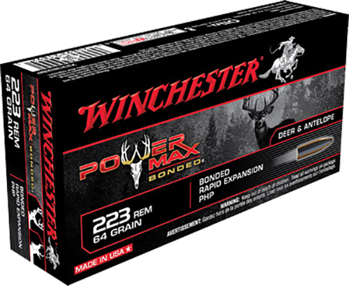Winchester Ammo X223R2BP Super-X 223 Remington/5.56 NATO 64 GR Power Max Bonded 20 Bx/10 Cs