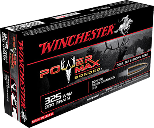 Winchester Ammo X325WSMBP Super-X 325 Winchester Short Magnum 220 GR Power Max Bonded 20 Bx/ 10 Cs