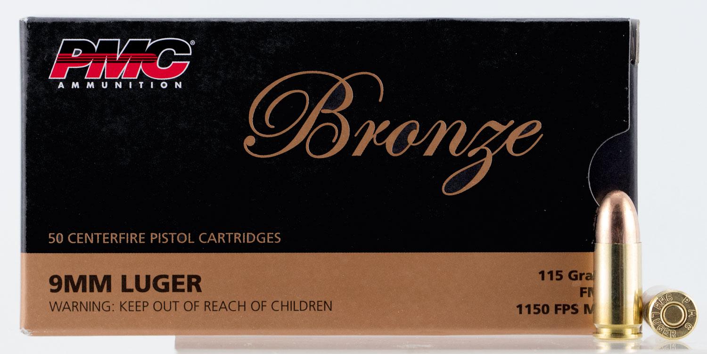 PMC BRNZ 9MM 115GR FMJ 50/1000