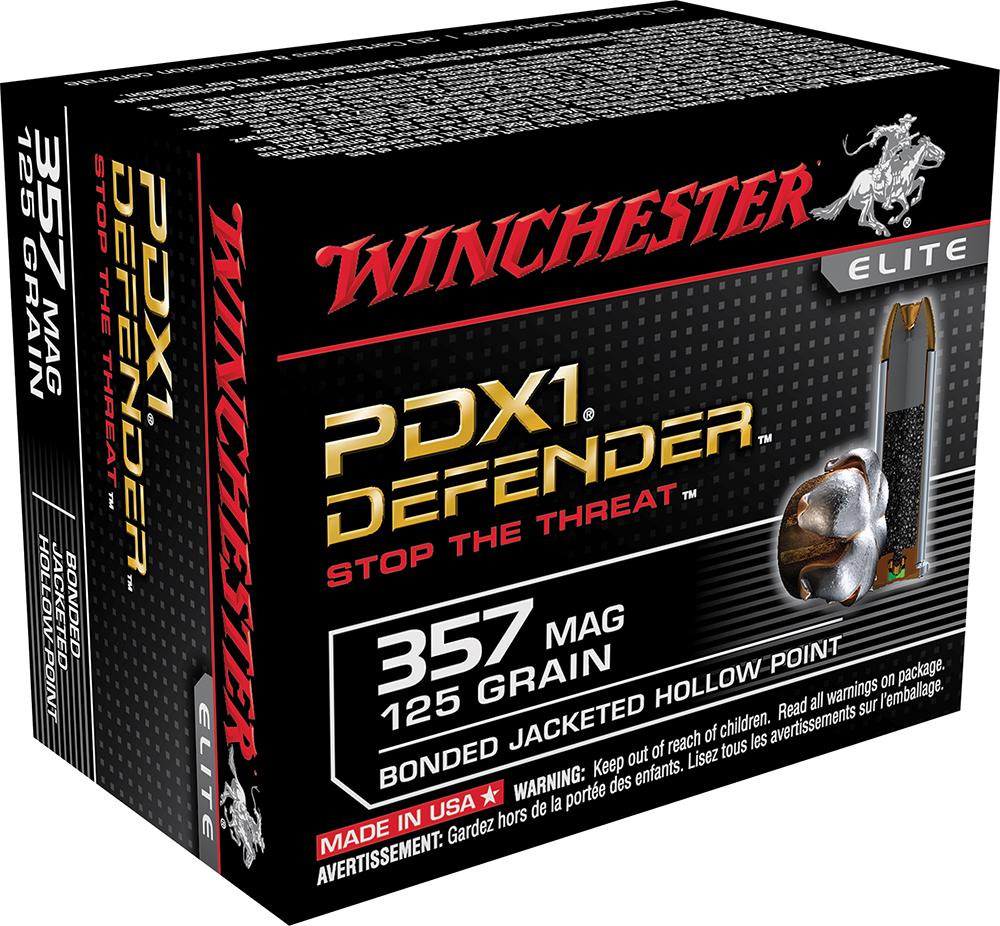 Winchester Ammo S357MPDB Supreme Elite 357 Magnum 125 GR Bonded Jacket Hollow Point 20 Bx/ 10 Cs