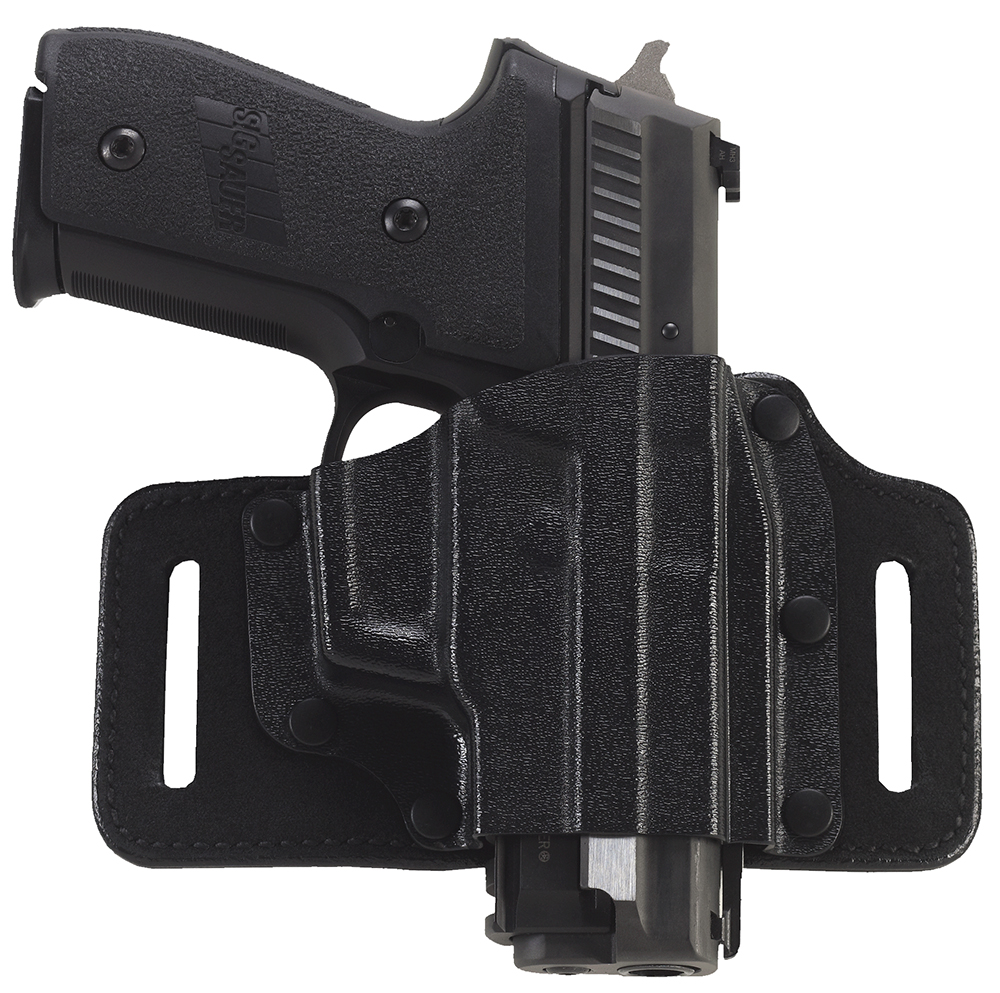 Galco TS224B TacSlide  Black Kydex Holster w/Leather Backing Belt fits Glock 22 Right Hand