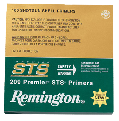 Remington Shotshell Primers  <br>  209 Premier STS 100 pk. HAZMAT