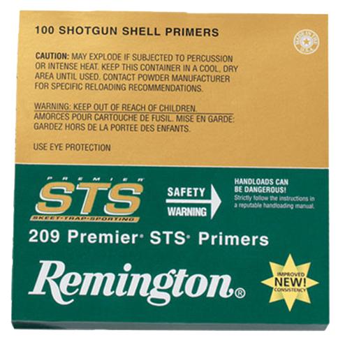 Remington Shotshell Primers  <br>  209 Premier STS 100 pk. HAZMAT