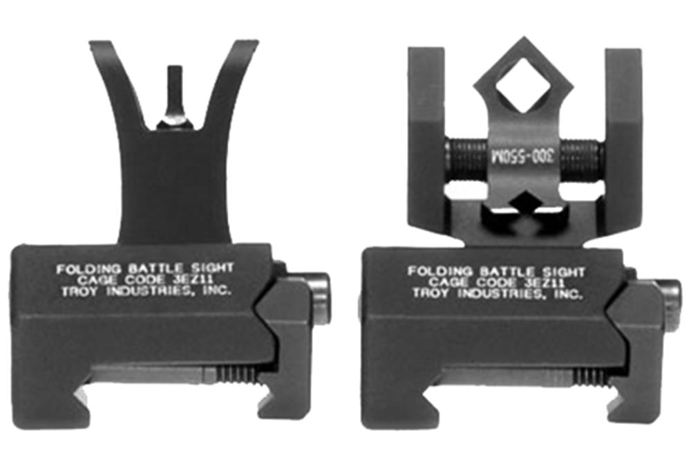 Troy SSIGIARSMBT BattleSight Micro Set HK Front/Round Rear Weapons w/Raised Top Rail Picatinny Rail Mount Aluminum Black