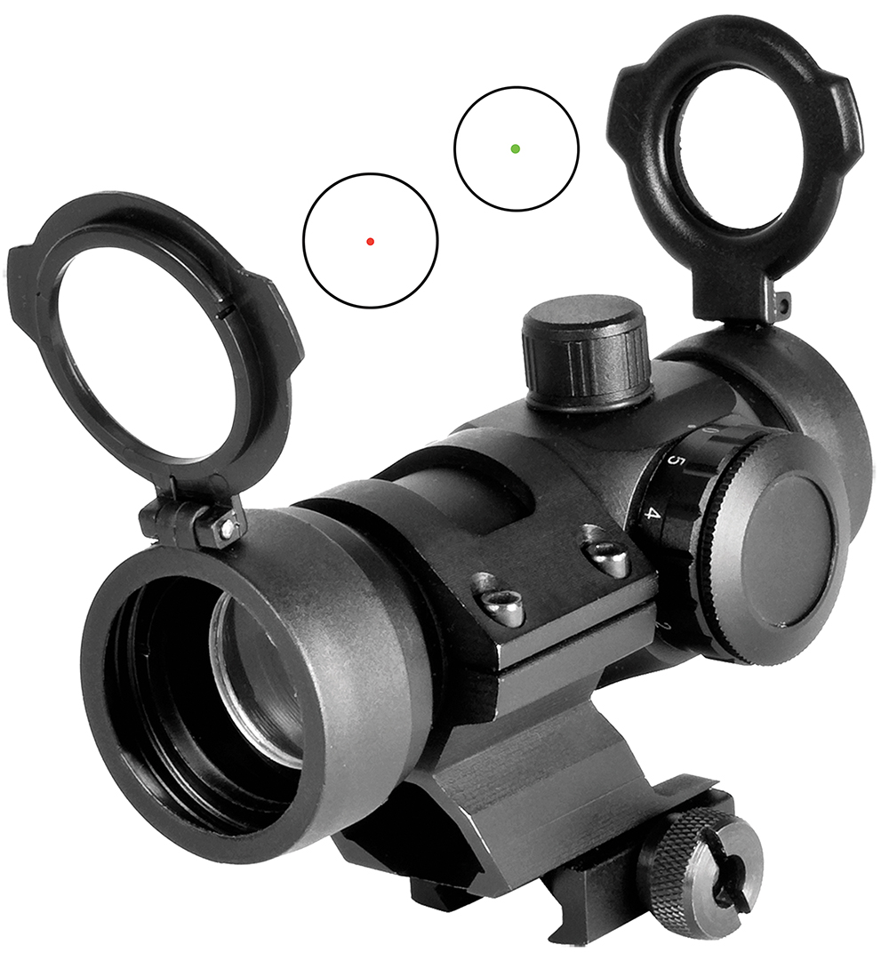 NCStar DMRG130 Dual Illuminated 1x 30mm Obj Unlimited Eye Relief 3 MOA Black