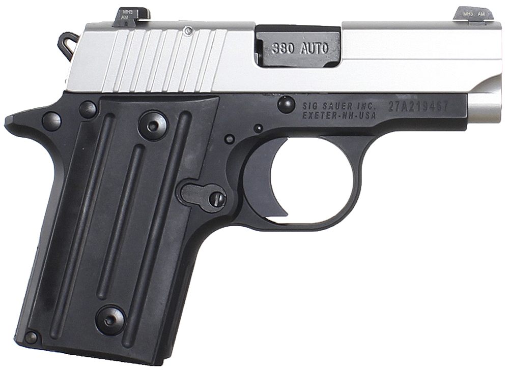 Sig Sauer 238380TSSCA P238 Micro-Compact Two-Tone *CA Compliant* Single 380 Automatic Colt Pistol (ACP) 2.7