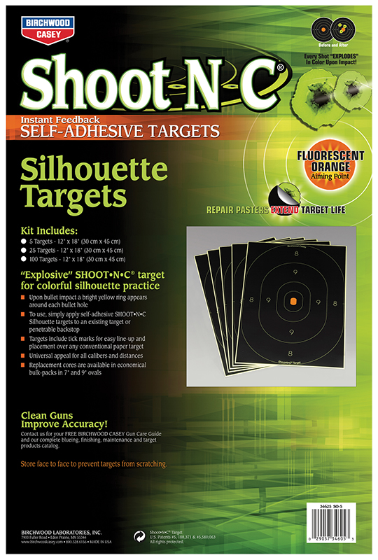 Birchwood Casey 34605 Shoot-N-C Self-Adhesive Shoot-N-C 12