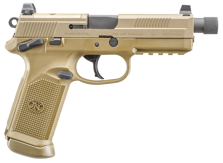 FN FNX-45 TACT 45ACP 15RD FDE NS MS