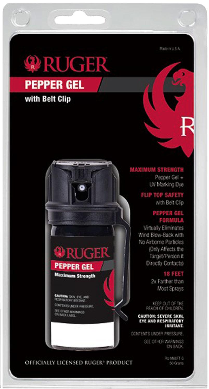 SABRE RUGER RED PEPPER GEL FLIP TOP W/BELT CLIP 1.8 OZ