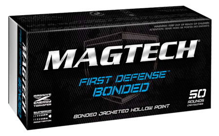 Magtech 45BONA First Defense 45 Automatic Colt Pistol (ACP) 230 GR Bonded Jacket Hollow Point 50 Bx/ 20 Cs