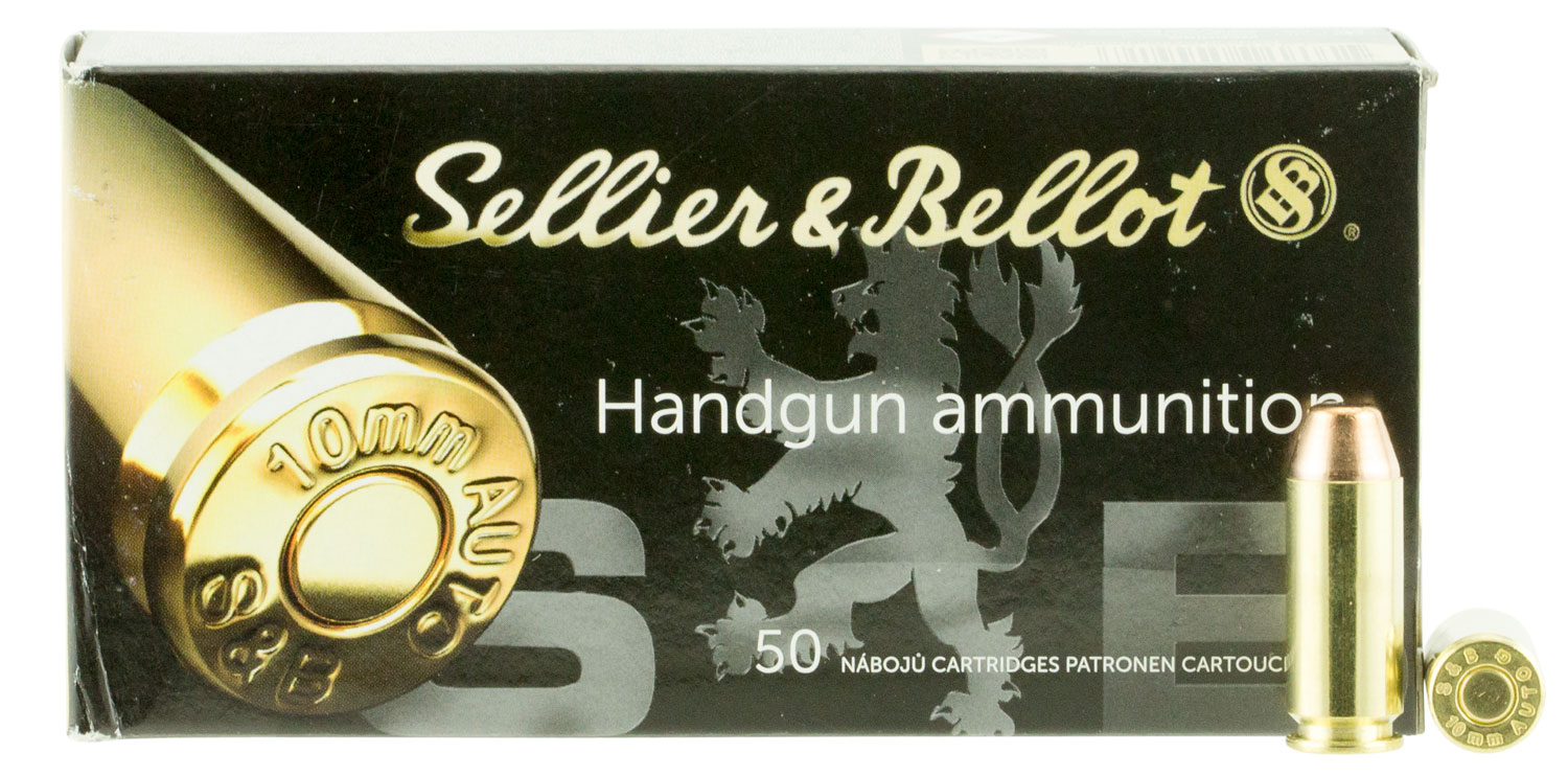 Sellier & Bellot 10A Handgun 10mm 180 GR Full Metal Jacket 50 Bx/ 20 Cs
