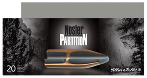 Sellier & Bellot SB308NSRA Rifle Hunting 308 Win/7.62 NATO 180 GR Nosler Partition 20 Bx/ 10 Cs