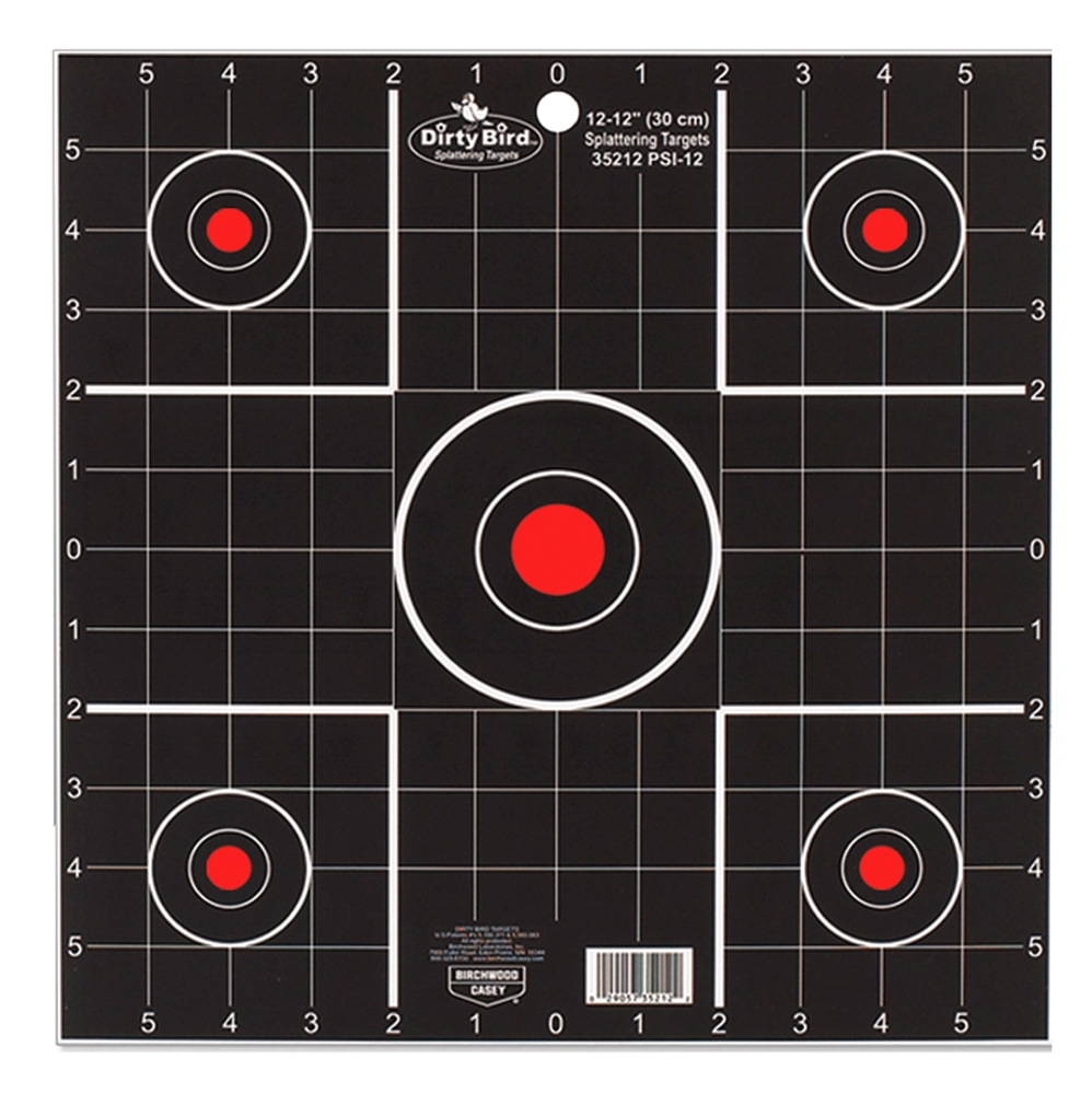 Birchwood Casey Dirty Bird Target 12 inch Sight In 12 Pack