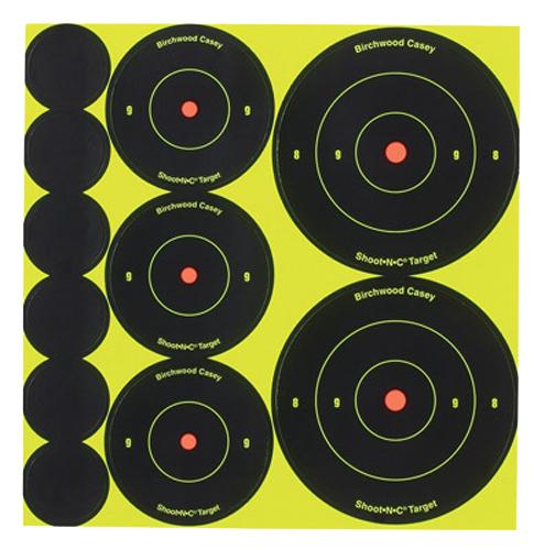 Birchwood Casey 35608 Shoot-N-C Self-Adhesive Shoot-N-C Bull's-Eye Self Adhesive Assorted
