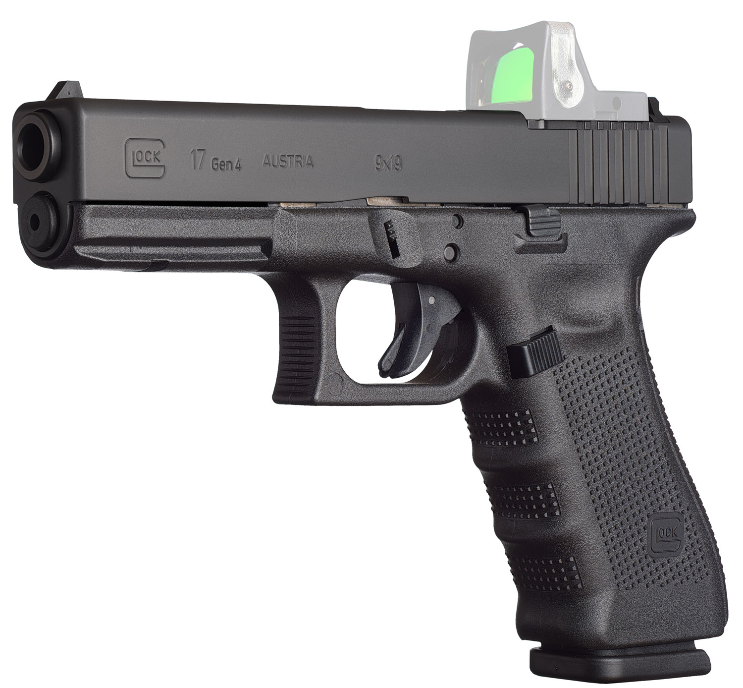 Glock PG1750203MOS G17 Gen4 MOS Double 9mm Luger 4.48