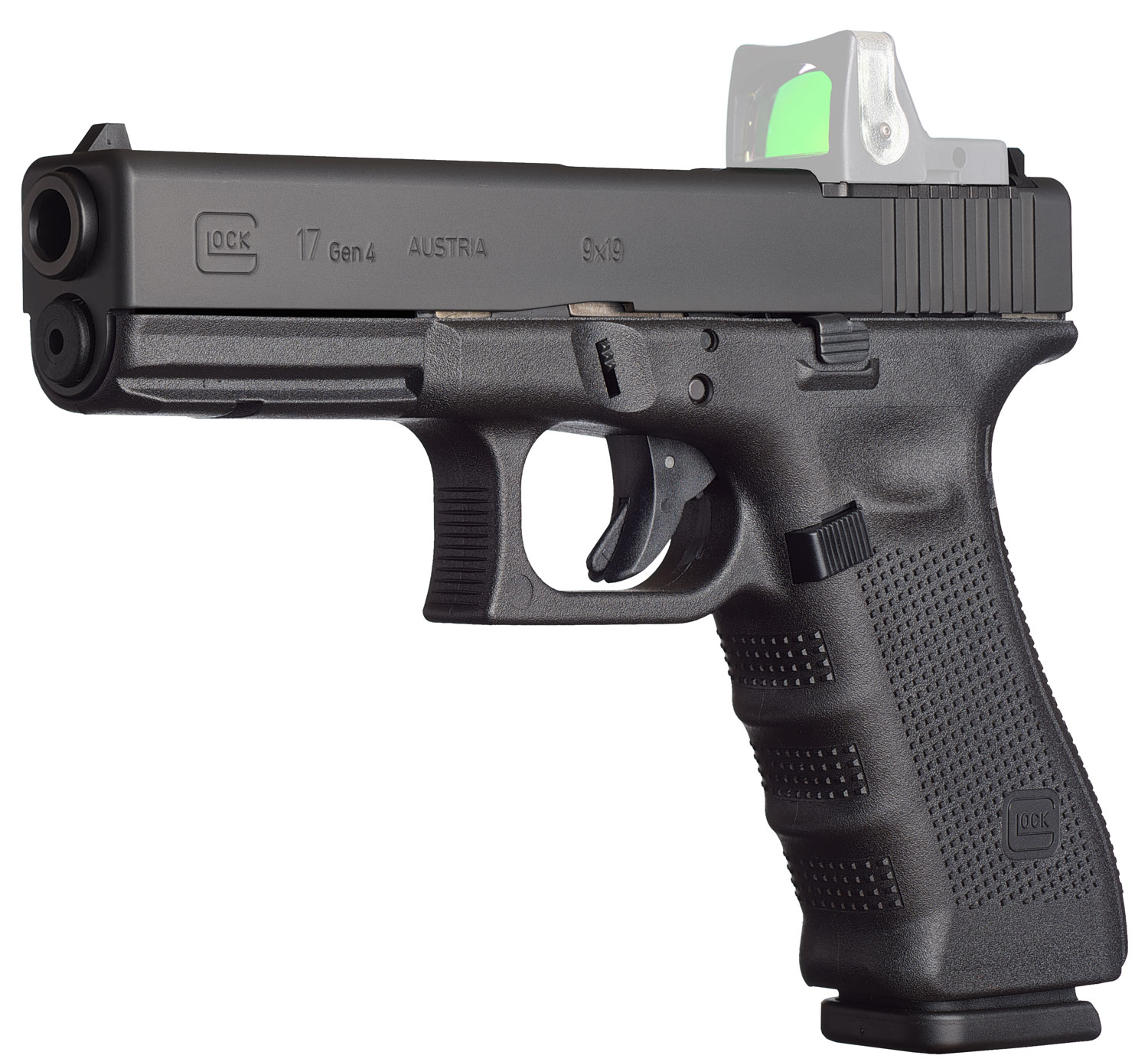 Glock PG1750201MOS G17 Gen4 MOS Double 9mm Luger 4.48