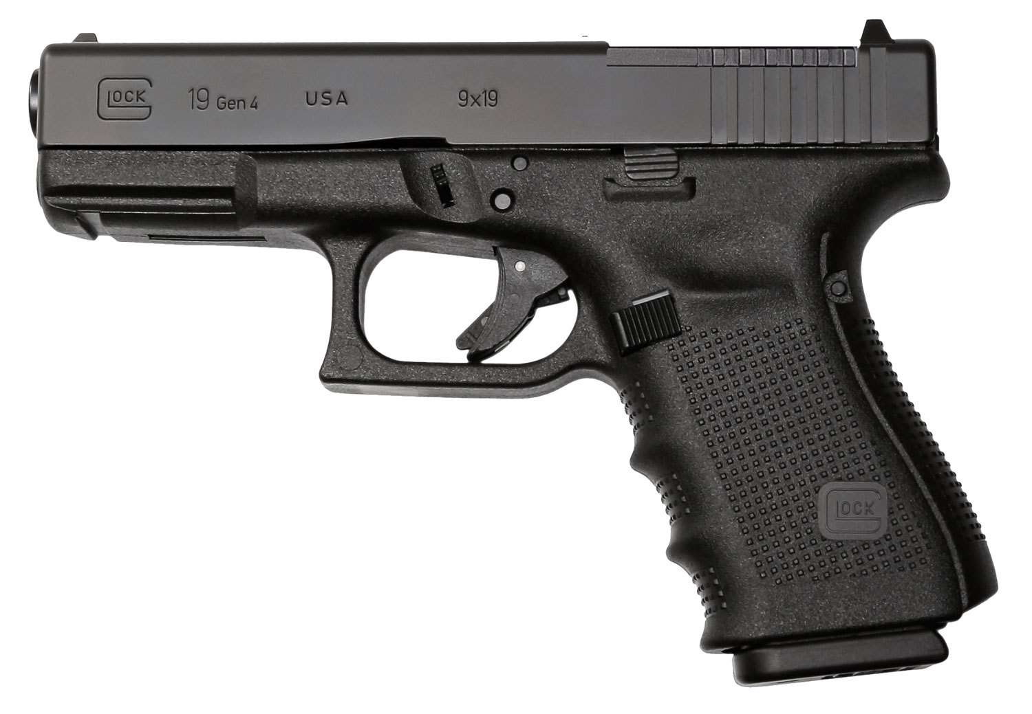 Glock PG1950203MOS G19 Gen 4 Compact MOS Double 9mm Luger 4.01