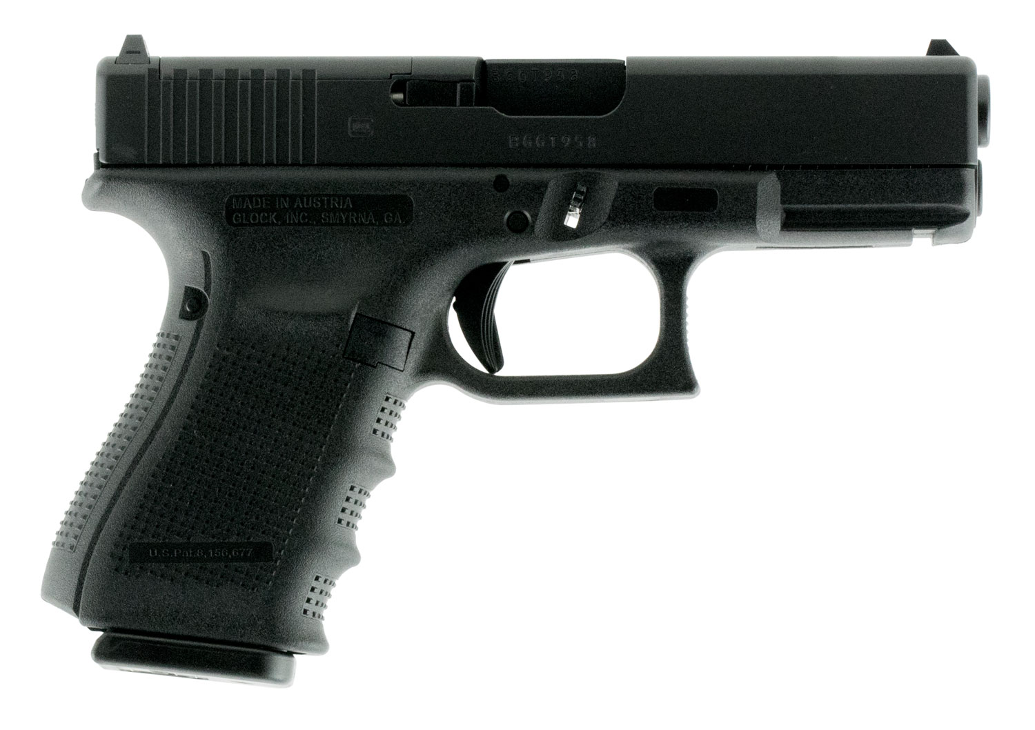 Glock PG1950201MOS G19 Gen 4 Compact MOS Double 9mm Luger 4.01