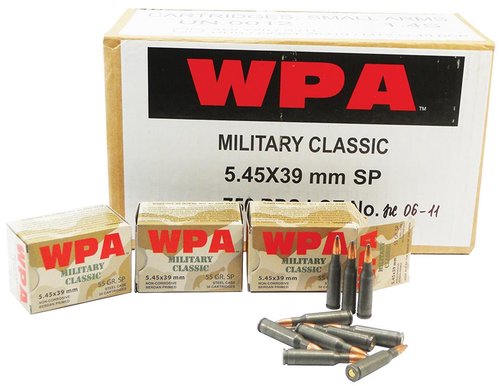 Wolf MC545BSP Military Classic Rifle 5.45x39mm 55 GR Soft Point 30 Bx/ 25 Cs 750 Total (Case)