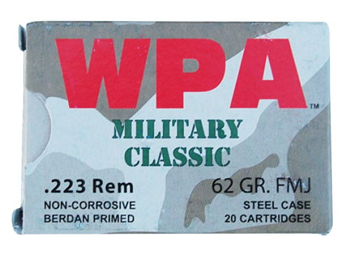 Wolf MC22362SP Military Classic Rifle 223 Remington/5.56 NATO 62 GR Soft Point 20 Bx/ 25 Cs 500 Total (Case)