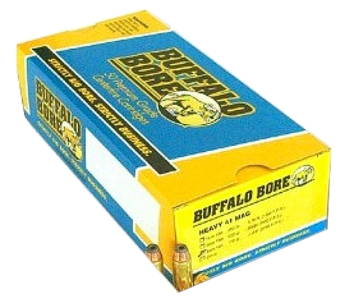 Buffalo Bore Ammunition 16A/20 Outdoorsman 41 Remington Mag 265 GR Hard Cast Lead 20 Bx/ 12 Cs