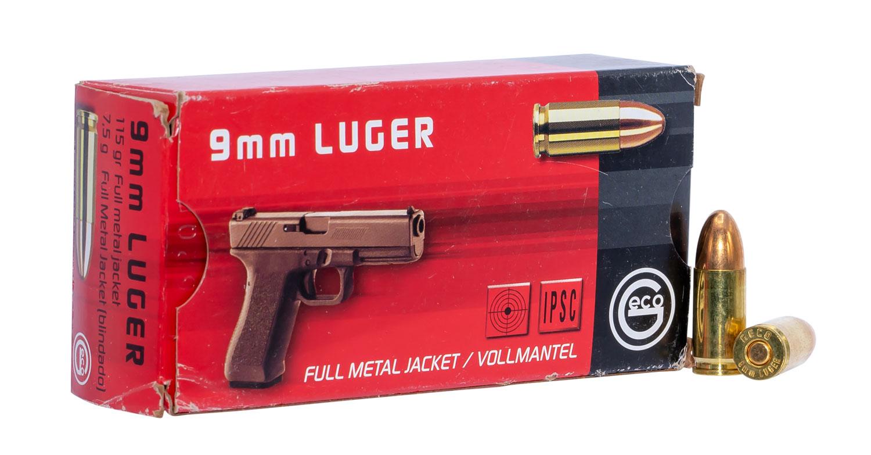 273440050 FMJ Geco  9mm Luger 115 GR Full Metal Jacket 50 Bx/20 Cs