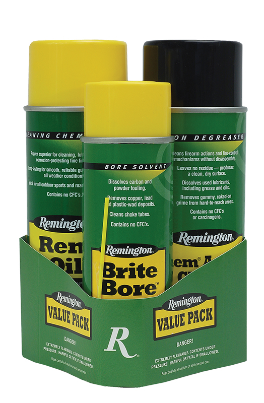 Remington 18156 Brite Bore Value Pack Cleaning Kit 3 Pack