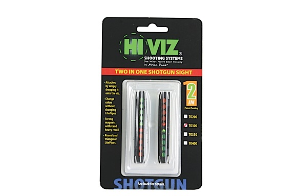 Hiviz  Two-In-One  Magnetic Front Sight Remington 870 Green/Orange Fiber Optic Black