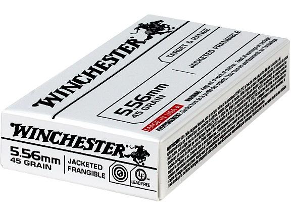 Winchester Ammo USA556JF Target & Range Jacketed Frangible  223 Remington/5.56 NATO 50 GR Jacketed Frangible 20 Bx/ 50 Cs