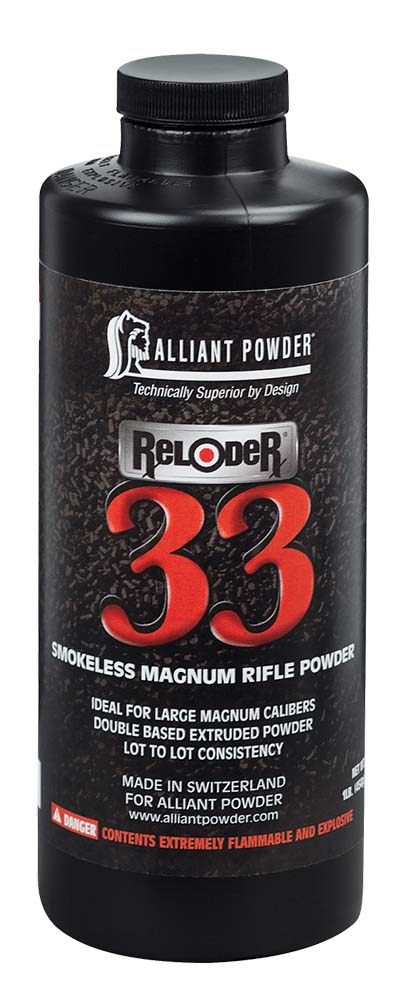 Alliant 150680 Reloder 33 Smokeless Magnum Rifle Powder 8lb 1 Canister