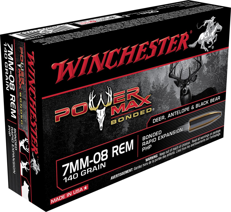 Winchester Ammo X708BP Super-X 7mm-08 Remington 140 GR Power Max Bonded 20 Bx/ 10 Cs