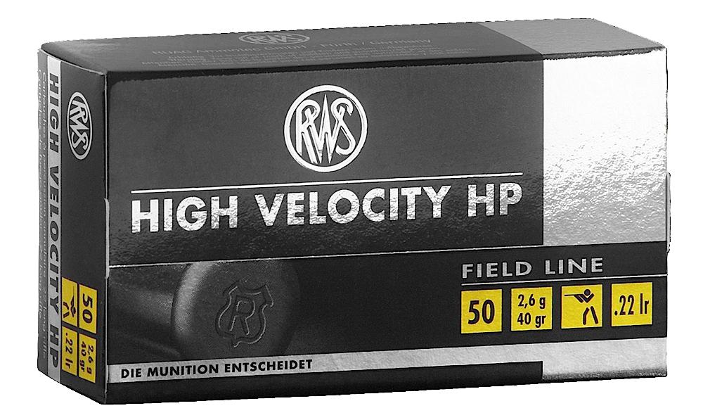 RWS 2132494  22LR 40GR High Velocity Hollow Point 50 Per Box