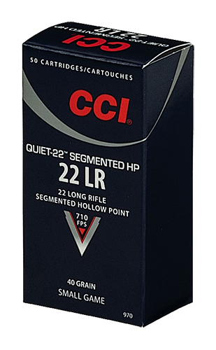 CCI QUIET SEGMENTED 22LR 40GR HP 50/