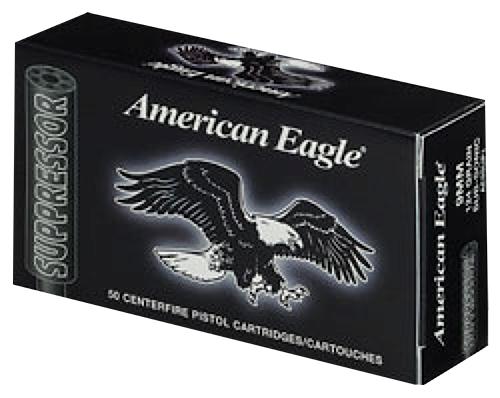 FED AMER EAGLE 9MM 124GR SUPPRESSOR 50/BX