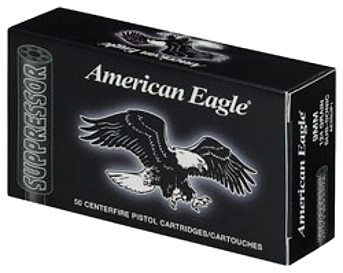 Federal AE22SUP1 American Eagle Suppressor 22 Long Rifle (LR) 45 GR Copper-Plated Round Nose 50 Bx/ 100 Cs