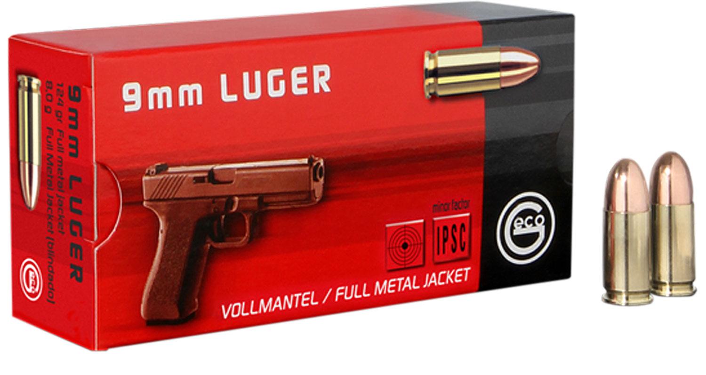 210040050 FMJ Geco  9mm 124 GR Full Metal Jacket 50 Bx/ 20 Cs