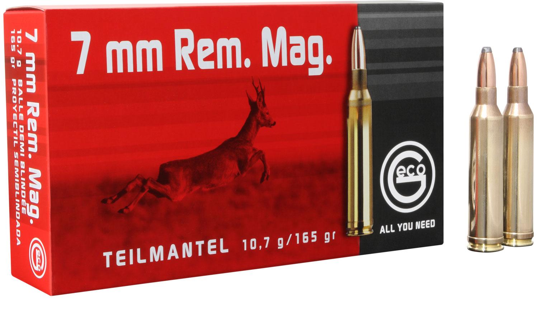 251240020 Teilmantel Geco  7mm Remington Magnum 165 GR Soft Point 20 Bx/10 Cs