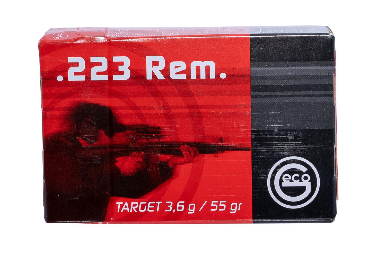 256140050 FMJ Geco  223 Remington 55 GR Full Metal Jacket 50 Bx/20 Cs