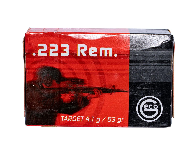 256240050 FMJ Geco  .223 Remington 63 GR Full Metal Jacket 50 Bx/20 Cs